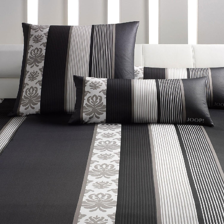 Joop Bettwäsche Ornament Stripes 4022 09 Schwarz Klassisch Exklusiv