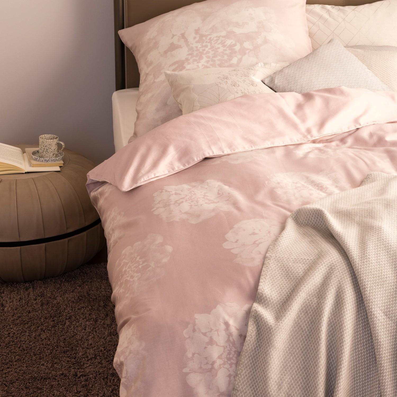 Schoner Wohnen Bettwasche Flora Nude Rosa Kaufen Bei