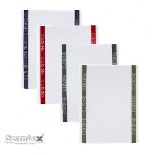Scantex exklusive Geschirrtücher CUISINE 50 x 70 cm 50% Baumwolle, 50% Leinen