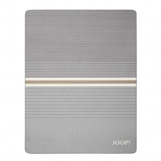 JOOP! Horizon Wohndecke Schiefer-Ecru 150 cm x 200 cm Baumwollmischung