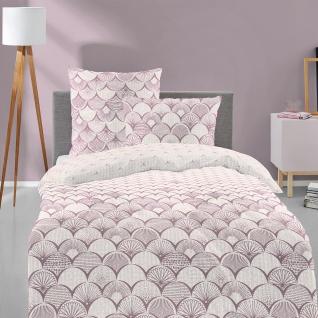 freundin Edel-Feinbiber Bettwäsche Lilo 8990-60 Rosa aus 100% Baumwolle wärmend