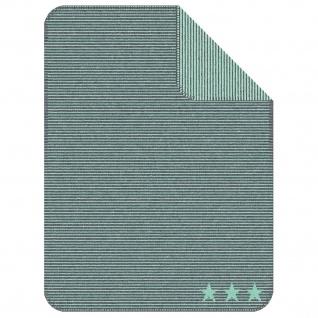 Ibena Jacquard Kinder Kuscheldecke LELU 75 x 100 cm baumwollmischung gestreift mit Sternen - Vorschau 5