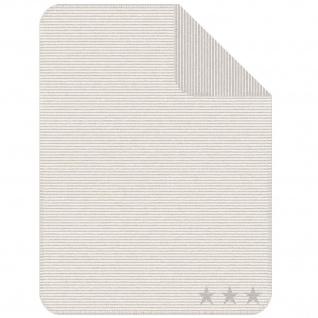 Ibena Jacquard Kinder Kuscheldecke LELU 75 x 100 cm baumwollmischung gestreift mit Sternen - Vorschau 4