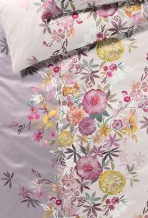 elegante Seiden-Satin Bettwäsche Kimono mauve Blumenmuster exklusiv - Vorschau 2
