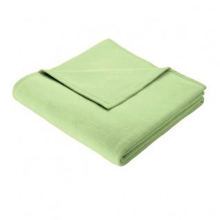 Biederlack Wohndecke Colour-Cotton Apfelgrün 150 x 200 cm uni, weich, kuschelig