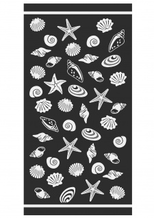 Ross Walk-Frottier Strandtuch Strandgut 75 x 150 cm schwarz 100 % Baumwolle