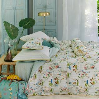 PiP Studio Perkal Bettwäsche Singerie Weiß florales Motiv Wendeoptik