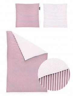 Irisette Mako-Satin Bettwäscheset Nora 8255-60 rosa 100% Baumwolle