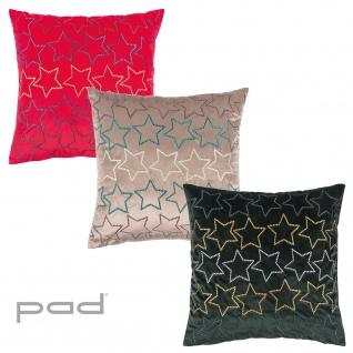 pad Kissenbezug Zodiac mit Sternen 45 x 45 cm mit Reißverschluss bestickt