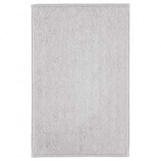 Cawö Gästetuch Home Allover 388 Silber-Grau 30 x 50 cm Fischgräten Muster