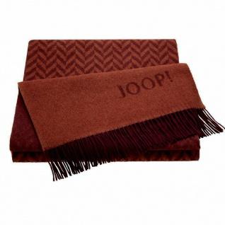 JOOP! Zigzag Wohndecke Rot 130 cm x 180 cm Wolle-Kaschmir Mischung - Vorschau 1
