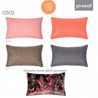 pad concept Kissenhülle Coco 30 x 50 cm Leder uni vier Farben Rückseite Samt