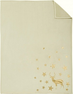 s.Oliver Decke Metallic-Print   beige   150 x 200 cm