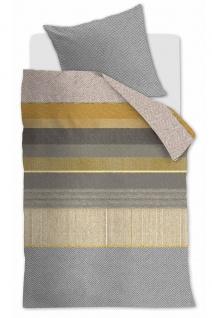 Beddinghouse Baumwollsatin Bettwäsche Bodhi Yellow gestreift 100 % Baumwolle - Vorschau 2