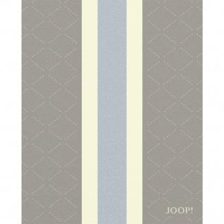 JOOP! Wolle-Kaschmir Plaid Sensual Signature Graphit-Taupe 130 x 180 cm Fransen