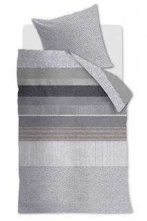 Beddinghouse Baumwollsatin Bettwäsche Bodhi Black gestreift aus 100% Baumwolle