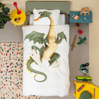 SNURK Kinder-Bettwäsche DRAGON - Drache 135 x 200 cm Digitaldruck Bio Cotton - Vorschau 2