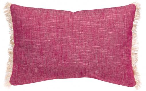 Winkler Kissenhülle JET 30 x 50 cm mit Fransen 100% Baumwolle einfarbig - Vorschau 5
