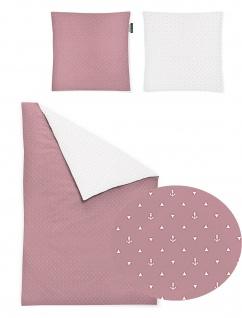 Irisette Mako-Satin Bettwäscheset Jessica 8256-60 rosa 100% Baumwolle