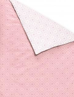 freundin Mako-Satin Bettwäsche Corado 8947-60 rosa geometrisches Muster - Vorschau 3