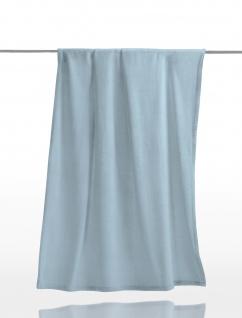 Irisette Kuscheldecke VIA 130 x 170 cm Uni sky-blau Microfaser - Fleece
