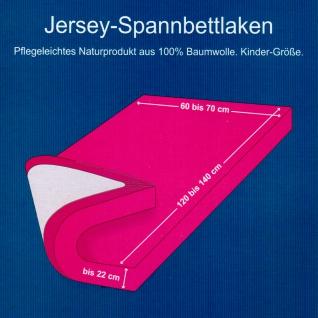 OptiDream Jersey Spannbetttuch Kinderbett 60/120 cm bis 70/140 cm 100% Baumwolle - Vorschau 2