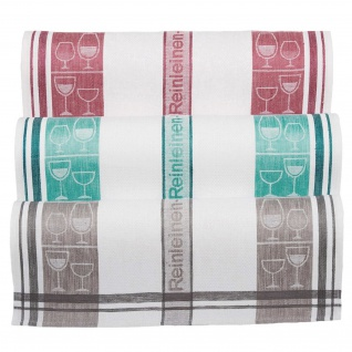 Ross Baumwolle Geschirrtuch Gläsertuch 50 x 70 cm Reinleinen in drei Farben