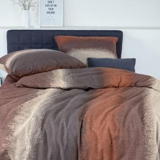 Irisette Edelflanell Bettwäsche Nubis 8301-70 mauve Farbverlauf-Muster modern