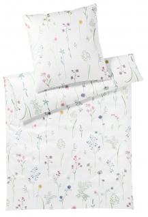 Elegante Interlock-Jersey Bettwäsche Flowery 3529-00 weiß geblümt