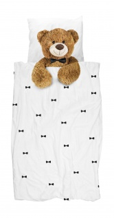 Snurk Flanell Kinderbettwäsche Teddy aus 100% Baumwolle wärmend für den Winter