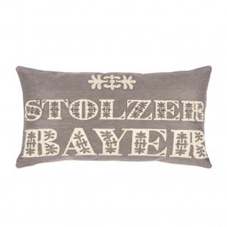 pad concept Kissenhülle Bavarian 30 x 50 cm 100% Baumwolle grey