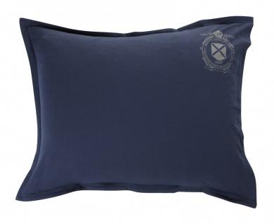 GRAND DESIGN Jersey Bettwäsche Yale - navy uni mit Logo-Print pflegeleicht - Vorschau 2