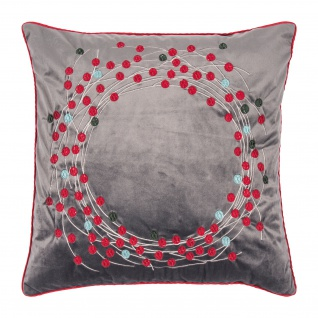 pad Kissenbezug Circle Grey 45 x 45 cm mit Reißverschluss bestickt