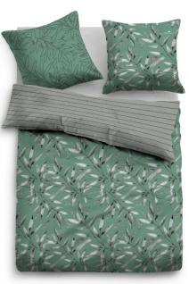 Tom Tailor Baumwolle Linon Bettwäsche Blätter 49869-842 mint aus 100% Baumwolle