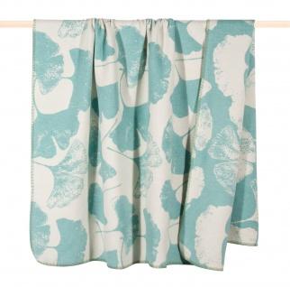 PAD Decke Wohndecke GINKGO Dusty-Aqua 150 x 200 cm Baumwollmischung