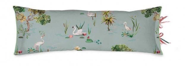 PIP Studio Dekokissen Zierkissen Little Swan Grey 30 x 90 cm Schwanensee