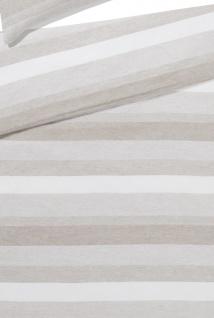 elegante Halbleinen Bettwäsche Delight 7056-7 sand gestreift - Vorschau 3