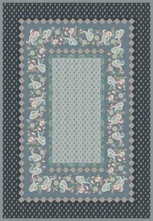 Bassetti Plaid Wohndecke Fabriano G1 grau 135 x 190 cm fPaysleymuster gesteppt