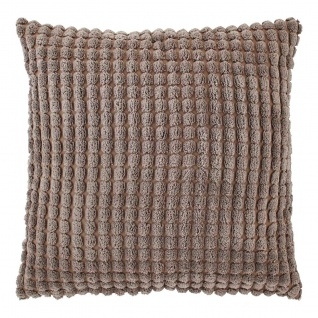 Dutch Decor Kissenbezug Rome taupe 70 x 70 cm 100% polyester Velour mit RV Struktur-Muster