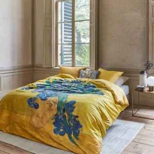 Beddinghouse Baumwollsatin Bettwäsche van Gogh Irises gelb 100% Baumwolle