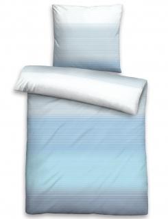 Biberna Seersucker Bettwäsche 22850-221 Farbverlauf Streifen 100% Baumwolle bügelfrei