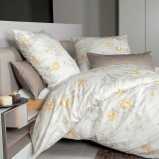 Janine Mako-Satin Bettwäsche Messina 43096-03 honiggold 100% Baumwolle