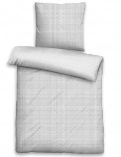 Biberna Fein-Biber Bettwäsche Deluxe Netz 4253-019 grau aus 100 % Baumwolle