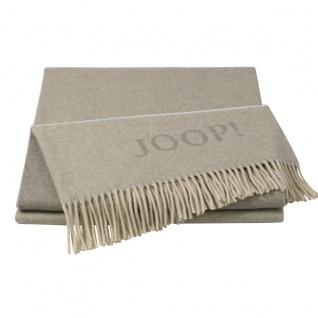 JOOP! Wolle-Kaschmir Plaid Fine Doubleface natur-sand 130 x 180 cm exklusiv