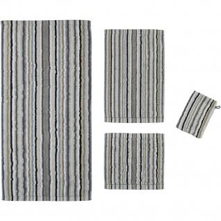 Cawö Home Handtuch Life Style Streifen 7048-037 kiesel gestreift dezent modern