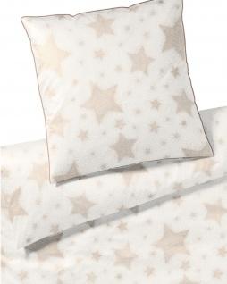 elegante Mako-Satin Bettwäsche Cosmos 2278-0 weißgold Sterne glizernd exklusiv - Vorschau 3