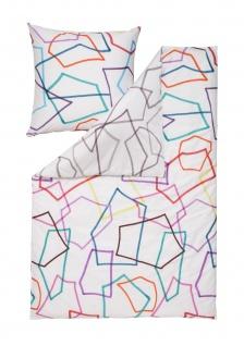 Estella Mako-Satin Wendebettwäsche Scribble multicolor