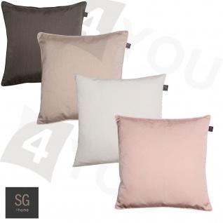 SG home Kissenhülle Minimo uni 45 x 45 cm uni Polyester mit RV klassisch elegant - Vorschau 1