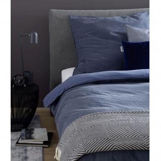 Schöner Wohnen Bettwäsche PINA dunkelblau100% Baumwolle Washed Cotton
