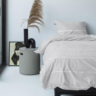 Damai Baumwoll-Satin Bettwäsche Ocean white 135 x 200 cm 100% Cotton mit RV